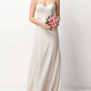 Wtoo beaded bodice strapless gown